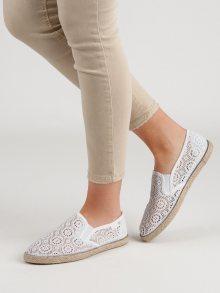 Trendy  tenisky dámské bílé bez podpatku