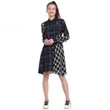 Desigual Dámské šaty Vest Fressia Navy 18WWVW39 5000 40