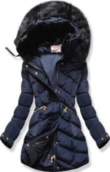 MODOVO Dámská zimní bunda s kapucí W732 tmavě modrá
