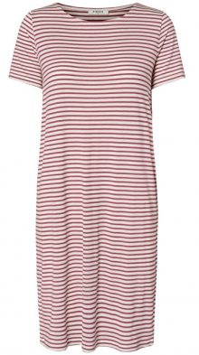 Pieces Dámské šaty Billo SS Dress Noos Bright White/Malaga XS