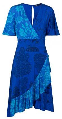 Desigual Dámské šaty Vest Fedra Royal 19SWVK76 5010 S