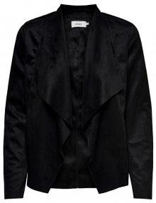 ONLY Dámské sako Fleur Drapy Faux Suede Jacket Black 34