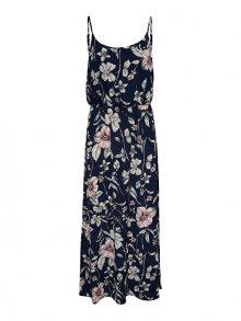 ONLY Dámské šaty Nova Aop Strap Maxi Dress 4Wvn Night Sky Flower Leaf 34