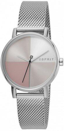 Esprit Levels Silver Pink Mesh ES1L075M0065