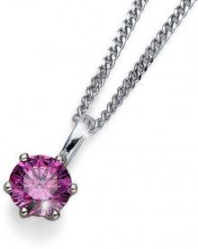 Oliver Weber Náhrdelník s fialovým krystalem Morning Brilliance Medium 61125 PUR (řetízek, přívěsek)