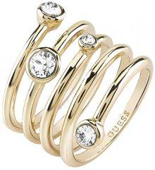 Guess Luxusní spirálovitý prsten UBR84056 54 mm