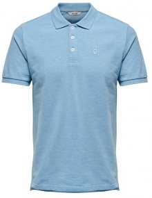 ONLY&SONS Pánské polo triko Sever SS Fitted Polo Tee Imperial Blue S