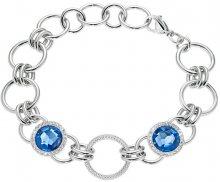 Morellato Krásný ocelový náramek s modrými krystaly Essenza SAGX09
