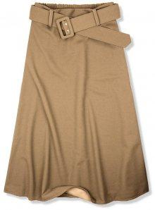 Béžová midi sukně s opaskem