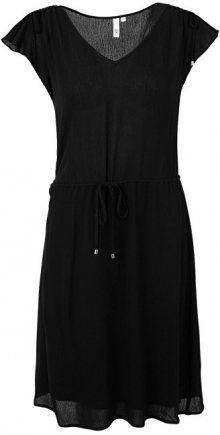 Q/S designed by Dámské černé krepové šaty 34