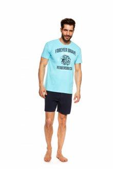 Henderson Justice 37121-50X Světle modro-tmavě modré Pánské pyžamo L Blankytno-tmavomodrá