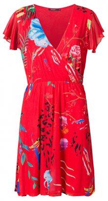 Desigual Dámské šaty Vest Miranda Rojo Roja 19SWVK97 3061 XS