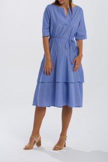 ŠATY GANT O2. PINSTRIPED RUFFLE DRESS