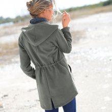 Blancheporte Meltonová bunda khaki 52