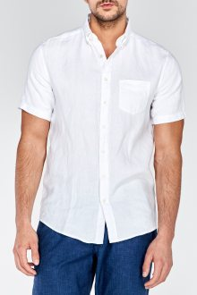Košile THE LINEN REGULAR SHORT SLEEVED