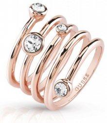 Guess Luxusní spirálovitý prsten UBR84057 52 mm