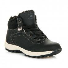 Sportovní černé dětské zimní boty s kožíškem