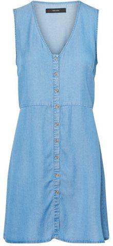 Vero Moda Dámské šaty Coco Mia Sl Short Dress Ga Medium Blue Denim S