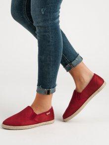 Luxusní červené  tenisky dámské bez podpatku