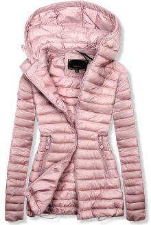 Růžová jarní prošívaná bunda