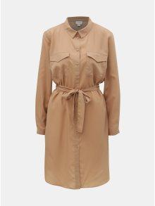 Béžové košilové šaty Jacqueline de Yong Iben