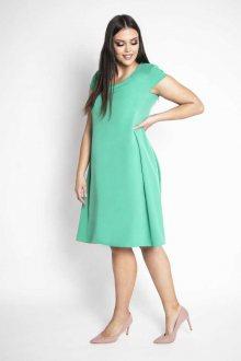 KINGA - volné šaty s krátkým rukávem