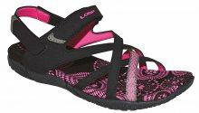 LOAP Dámské sandály Caipa Black/Magenta SSL18130-V11J 37