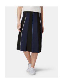 Modro-černá pruhovaná sukně Tom Tailor