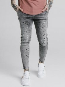 Džíny Gray SikSilk Knee BuRst Twisted Skinny šedá S