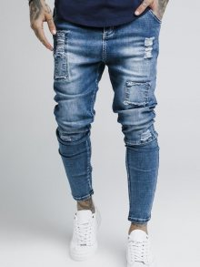Džíny Blue Bust Knee modrá M