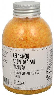Sefiros Relaxační koupelová sůl Vanilka (Original Dead Sea Bath Salt) 500 g