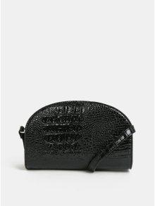 Černá crossbody kabelka s hadím vzorem Pieces Fanny