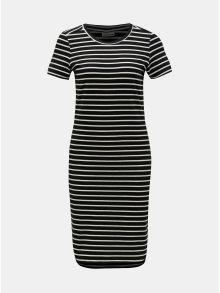 Černé pruhované basic šaty Noisy May Summer