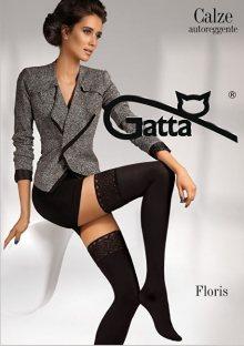 Gatta Samodržící punčochy Floris Calze Nero 1-2