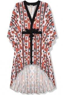 Dlouhé vzorované kimono