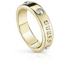Guess Módní pozlacený prsten s krystaly Hoops UBR84029 54 mm