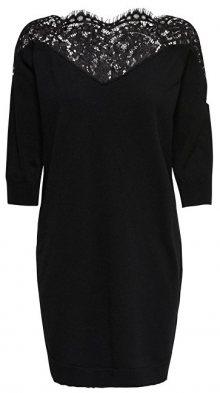 ONLY Dámské šaty Ally 3/4 Spring Dress Knt Black Dtm Lace S