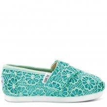 Toms dětské boty Tiny Classic/Mint Crochet Glitter - 18,5