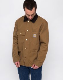 Carhartt WIP Michigan Coat Hamilton Brown rinsed L