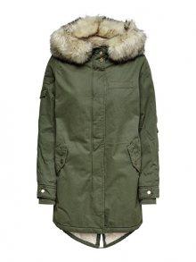 ONLY Dámská bunda May Fur Canvas Parka Otw Grape Leaf L