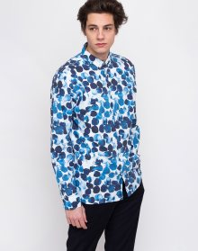 Knowledge Cotton Water Based Dot Printed Shirt 1001 Total Eclipse M