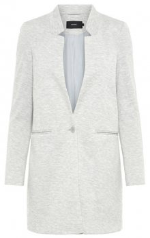 Vero Moda Dámský blejzr June W/L Long Blazer Dnm Light Grey Melange 36