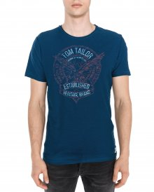 Triko Tom Tailor   Modrá   Pánské   XL