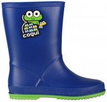 Coqui Dětské holínky Rainy Blue/Lime 8505-100-5014 24