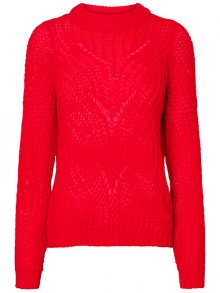 Vero Moda Dámský svetr Wishi Light Ls O-neck Blouse Chinese Red S