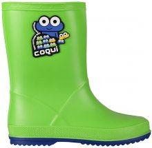 Coqui Dětské holínky Rainy Lime/Blue 8505-100-1450 24