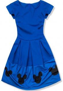 Modré šaty s Mickey potiskem