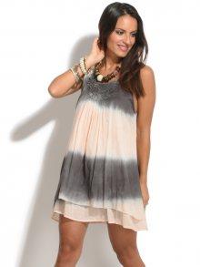 Terre Rouge Dámské šaty SA23982-409 Rose clair et gris\n\n