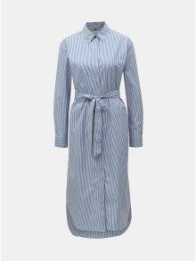 Bílo-modré pruhované košilové šaty Tommy Hilfiger