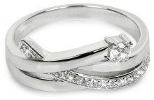Silver Cat Stříbrný prsten se zirkony SC203 56 mm